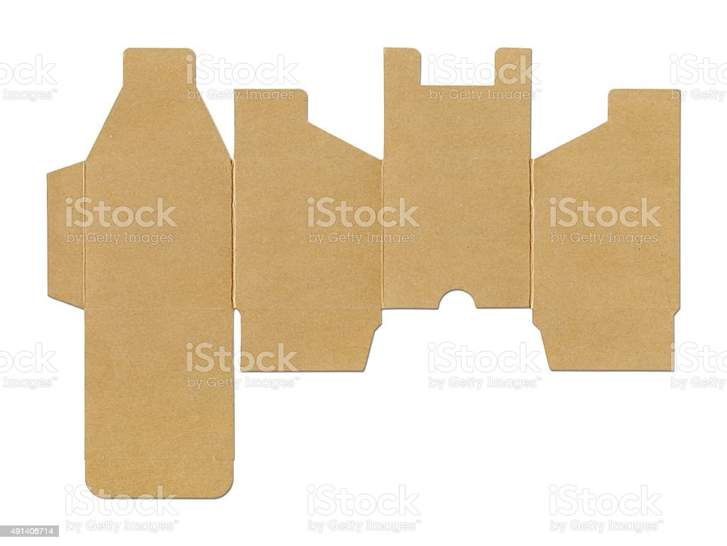 Cube box template - Old Paper (Clipping Path) stock photo