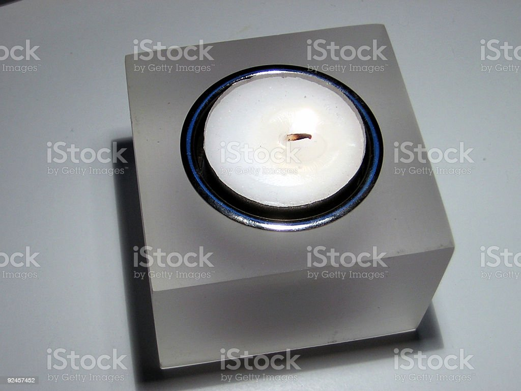 Cube Candle Holder royalty-free stock photo