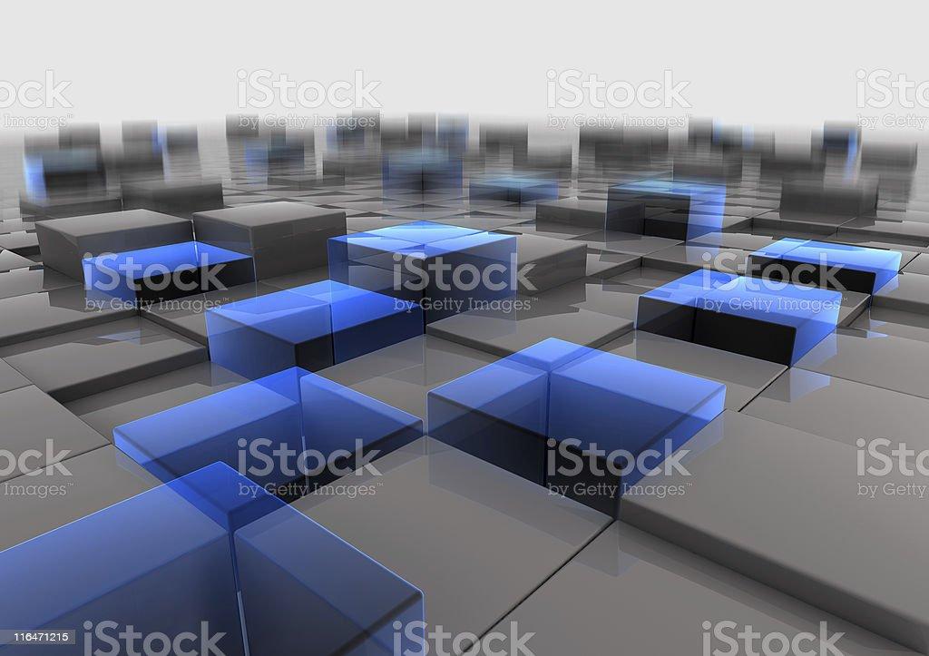 Cube Field royalty-free stock photo