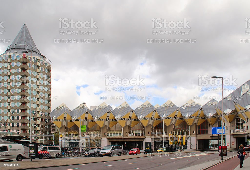 Cube house in Rotterdam stock photo
