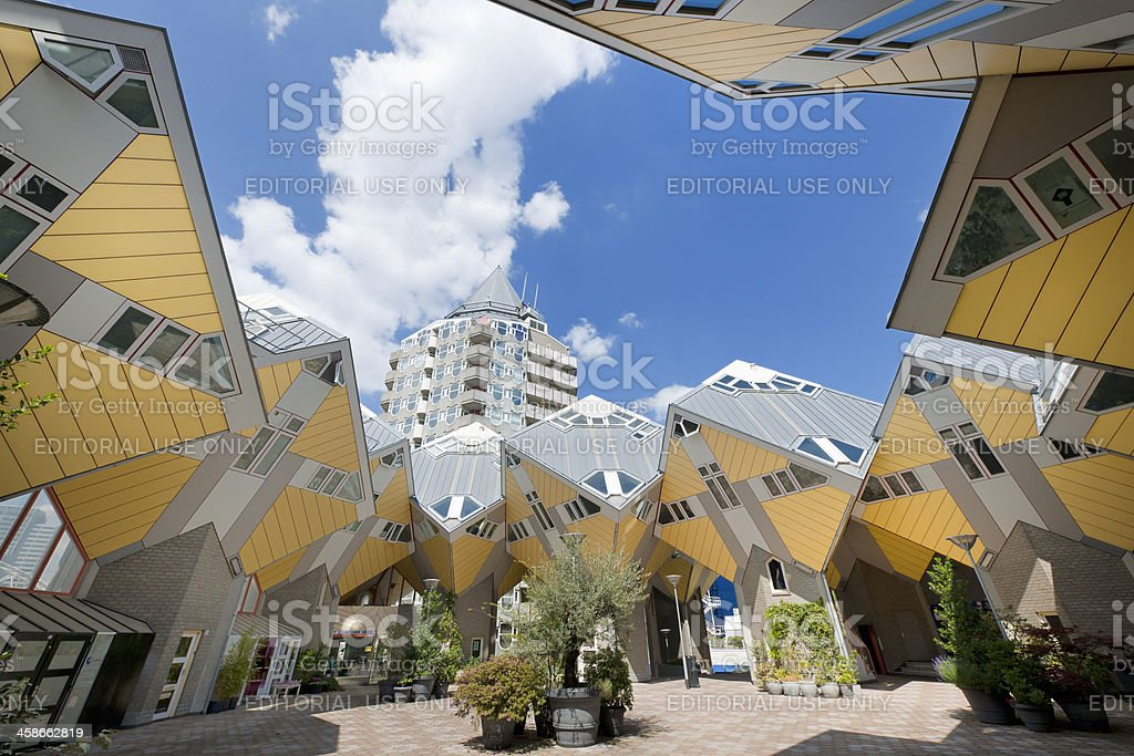 cube houses in Rotterdam The Netherlands XXXL image stock photo