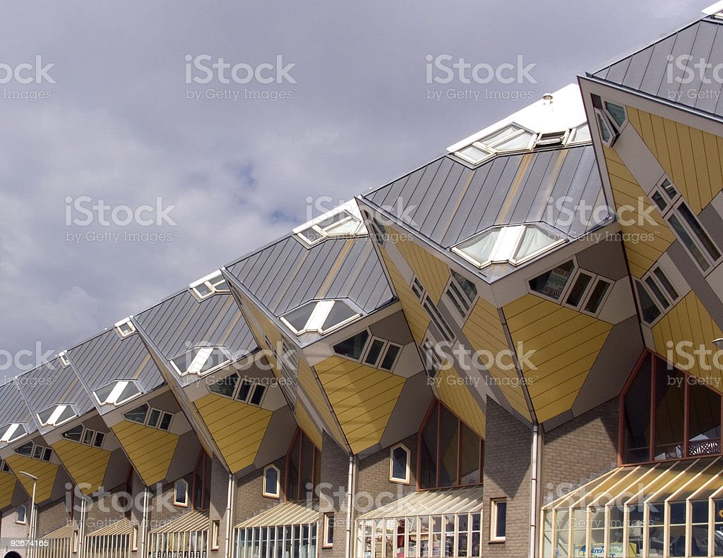 Cube houses royalty-free stock photo