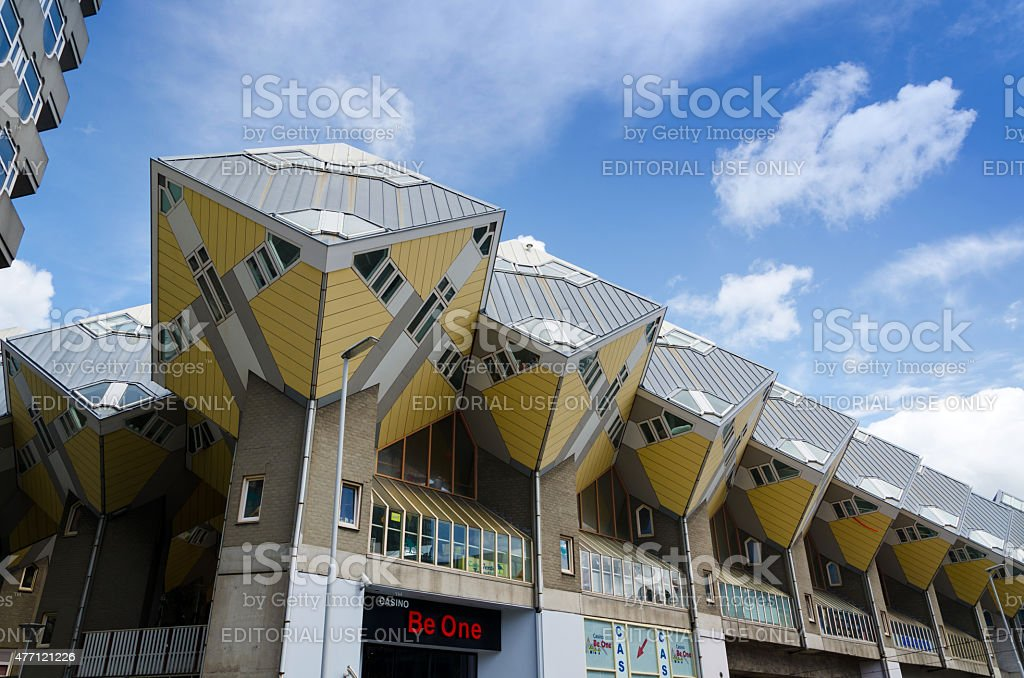 Cube Houses the iconic in Rotterdam stock photo