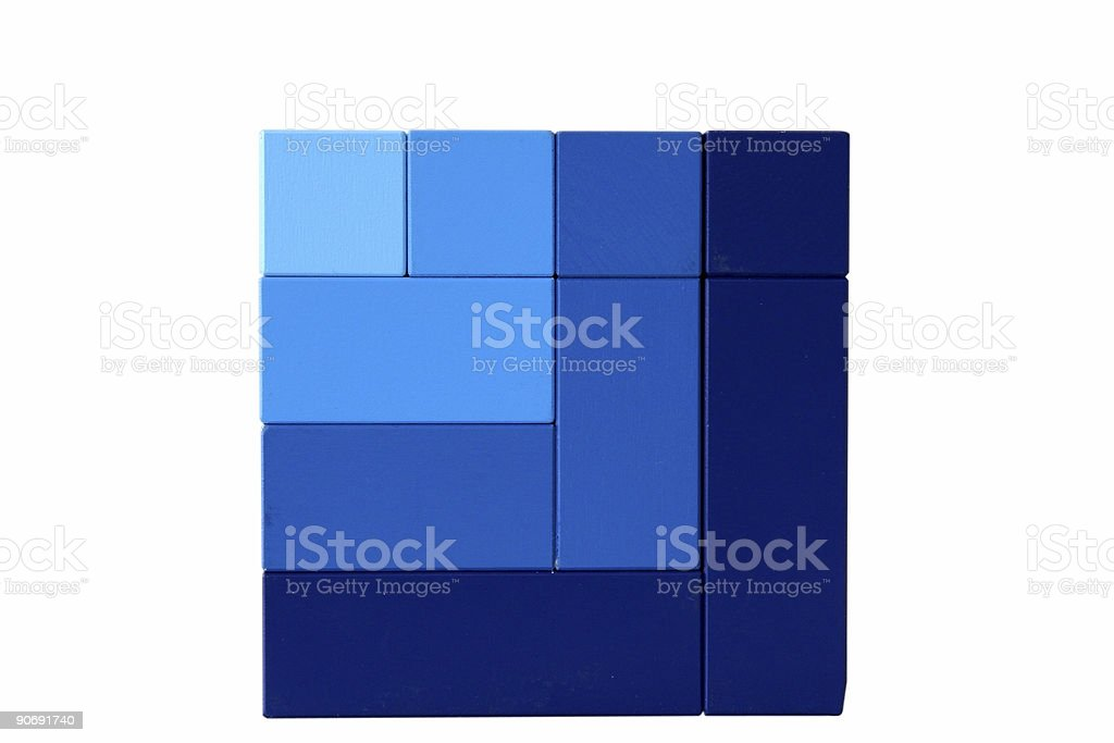 Cube in Blue stock photo