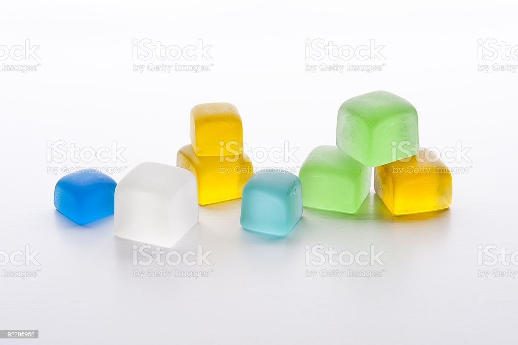 cube of colored glass royalty-free stock photo