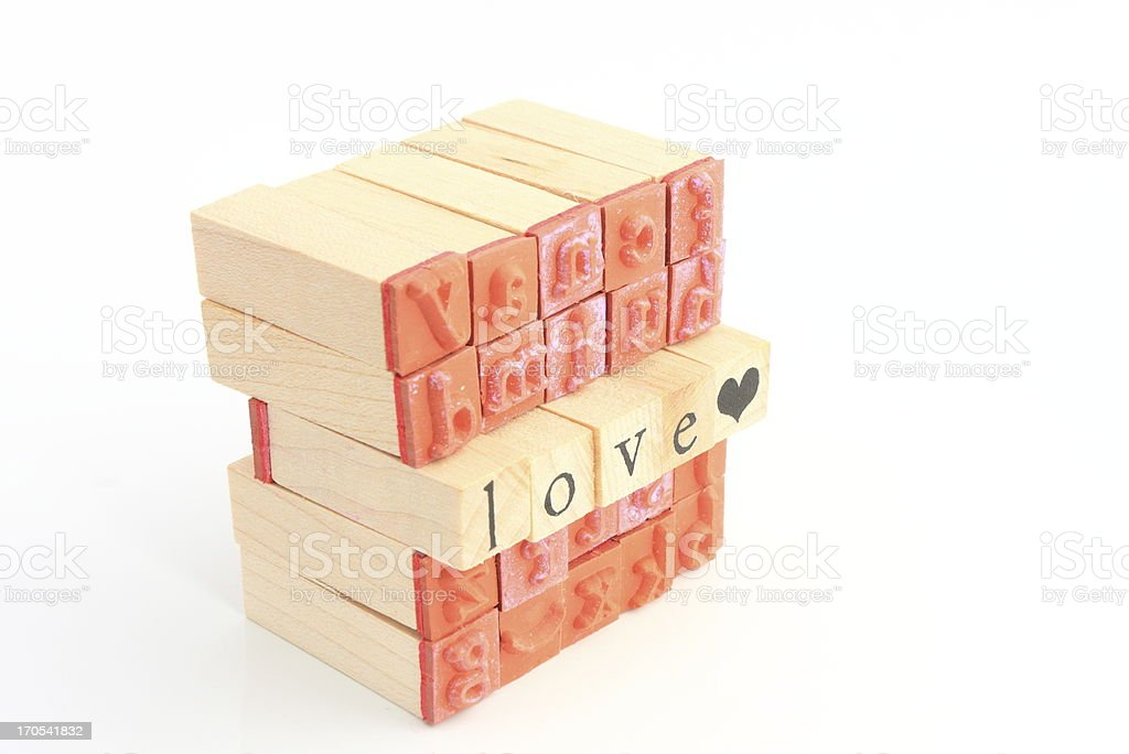 Cube of stamps royalty-free stock photo