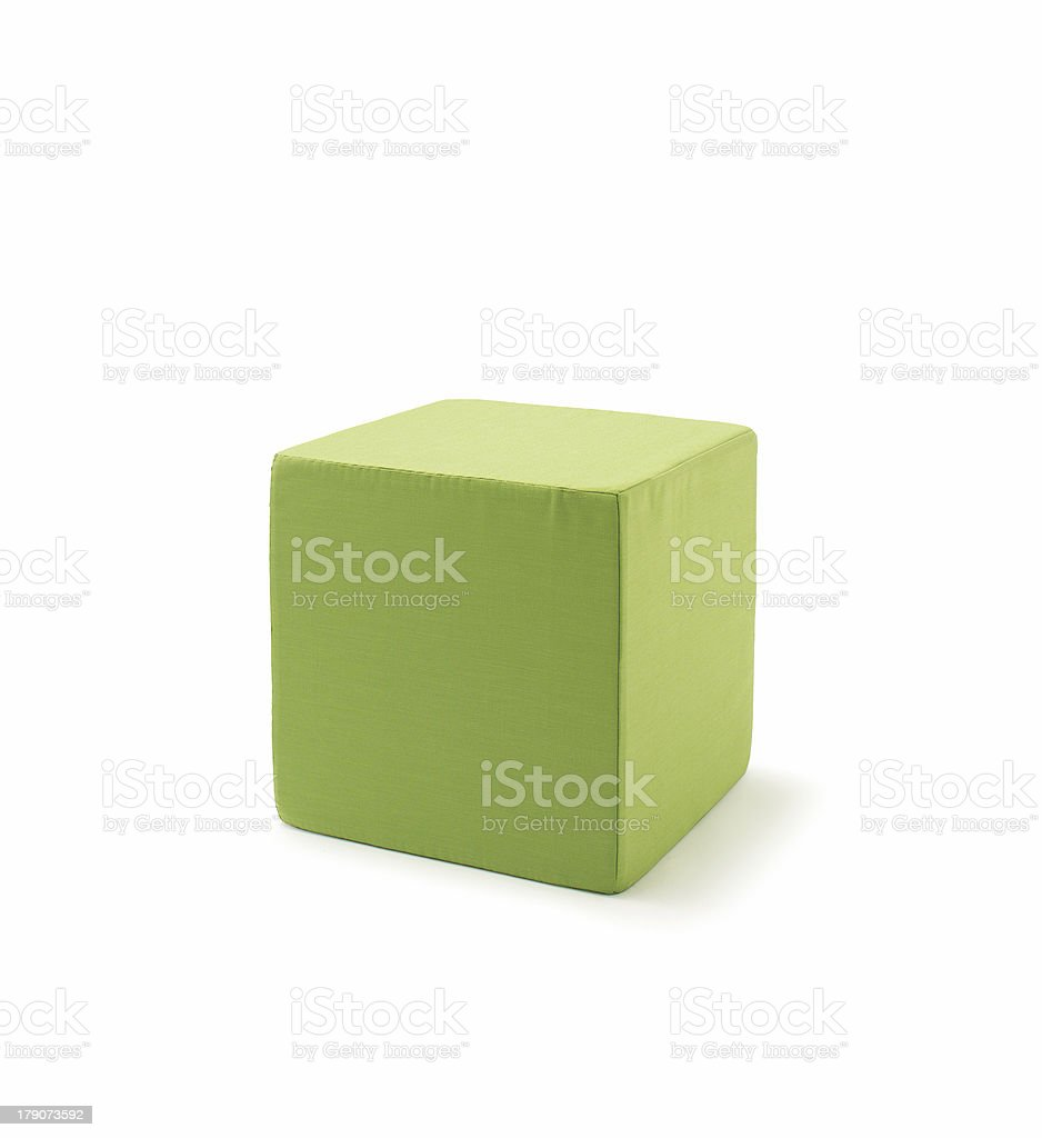 Cube Ottoman stock photo