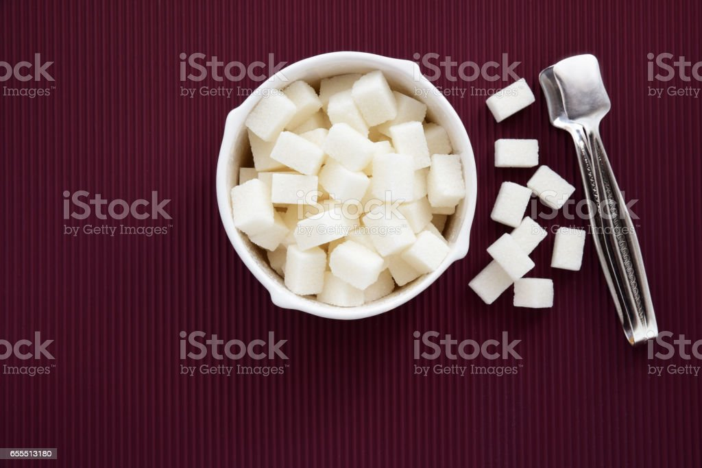 Cube Sugar stock photo