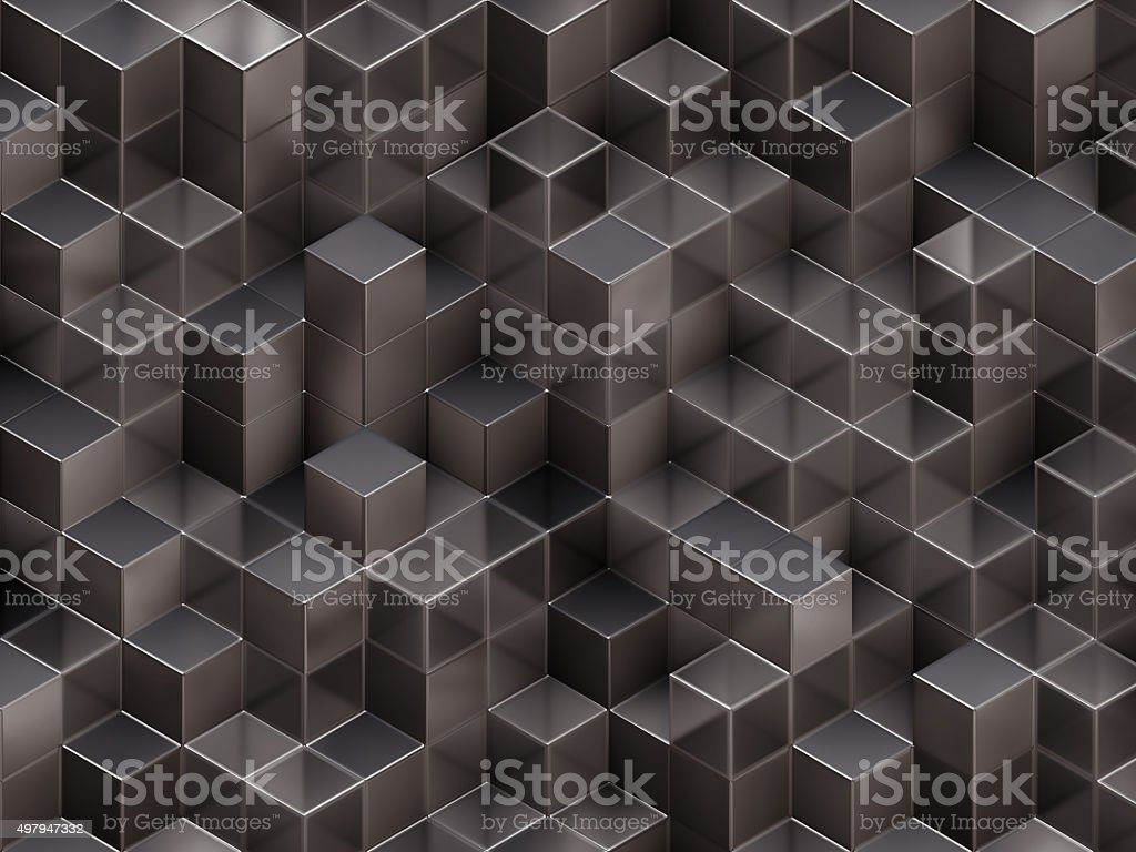 3D cubes abstract background stock photo