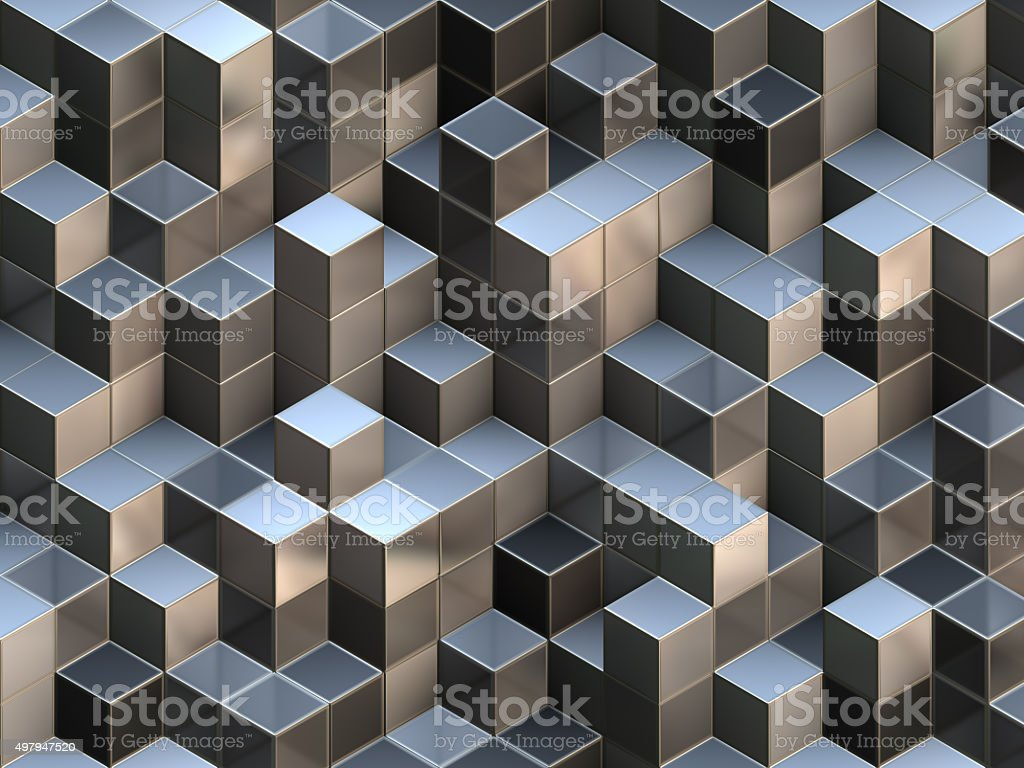 3D cubes abstract background royalty-free stock photo