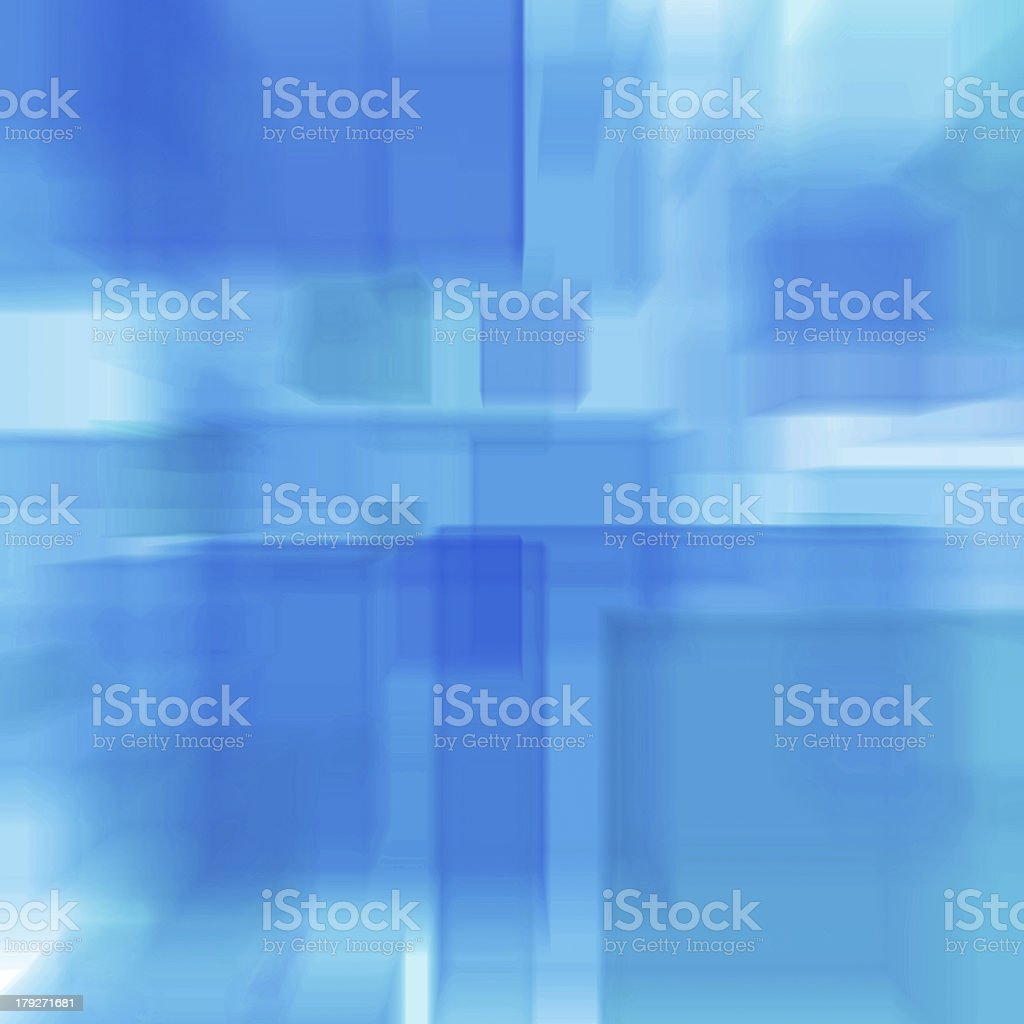 Cubes, abstract blue radial blur royalty-free stock photo