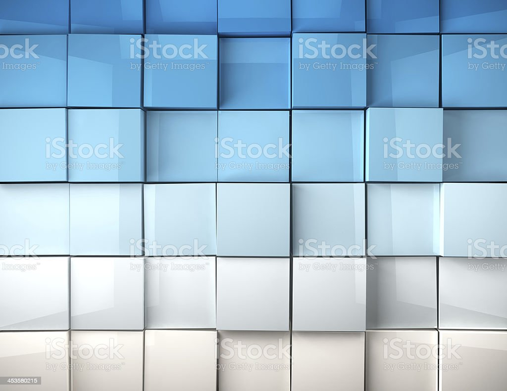 cubes background in blue toned stock photo