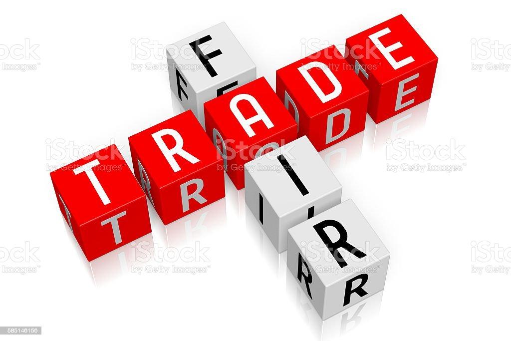 3D cubes concept - fair trade stock photo