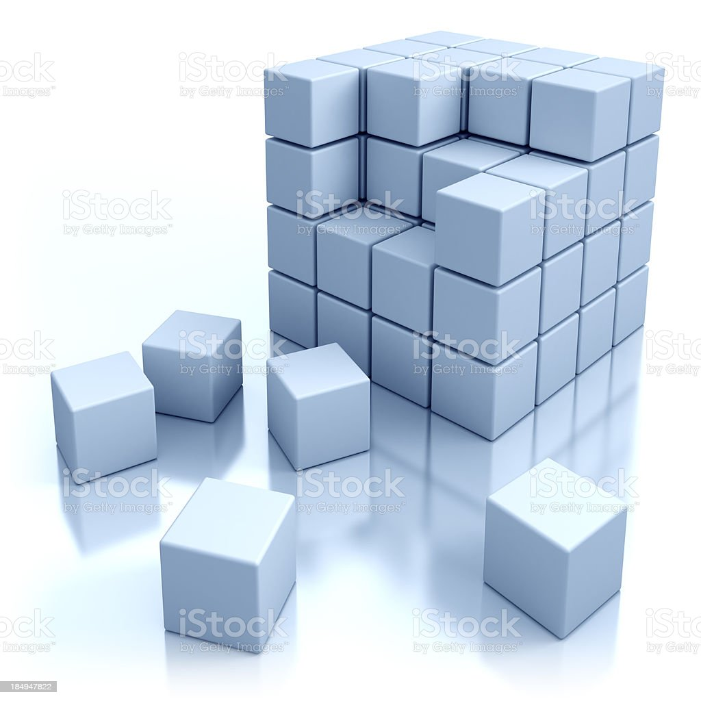 Cubes concept - isolated with clipping path royalty-free stock photo