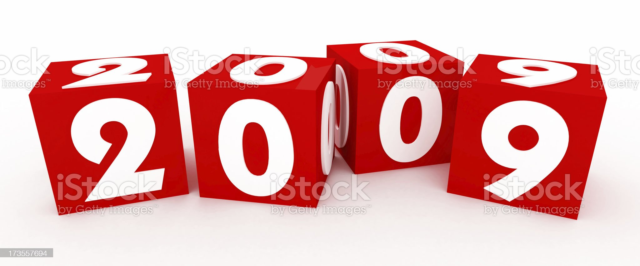 3D Cubes for New Year 2009 royalty-free stock photo
