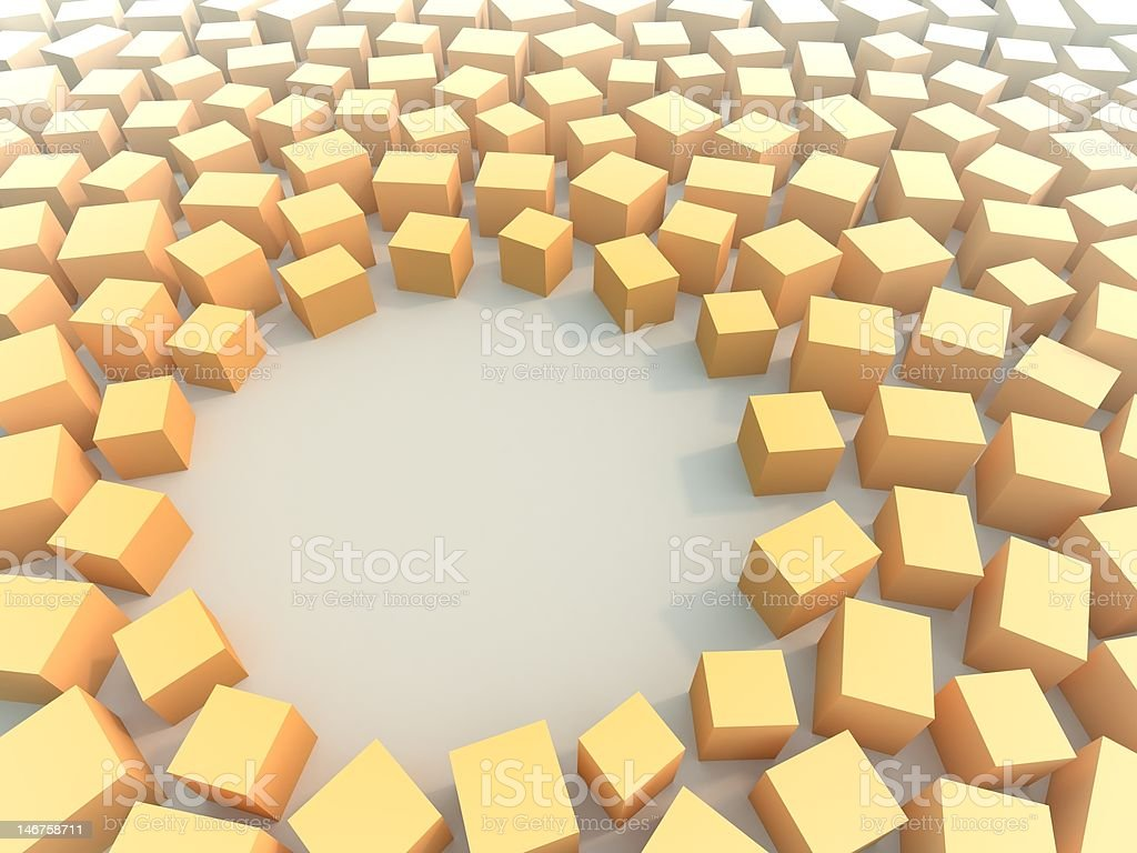 Cubes in chaos royalty-free stock photo