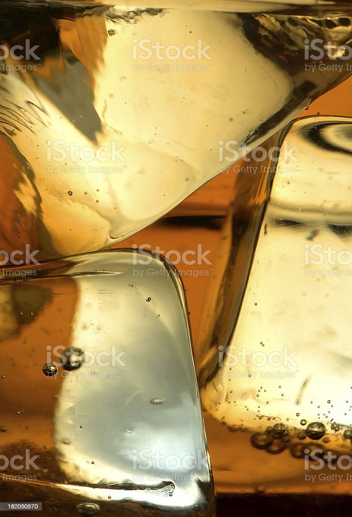 Cubes in glass- close up royalty-free stock photo