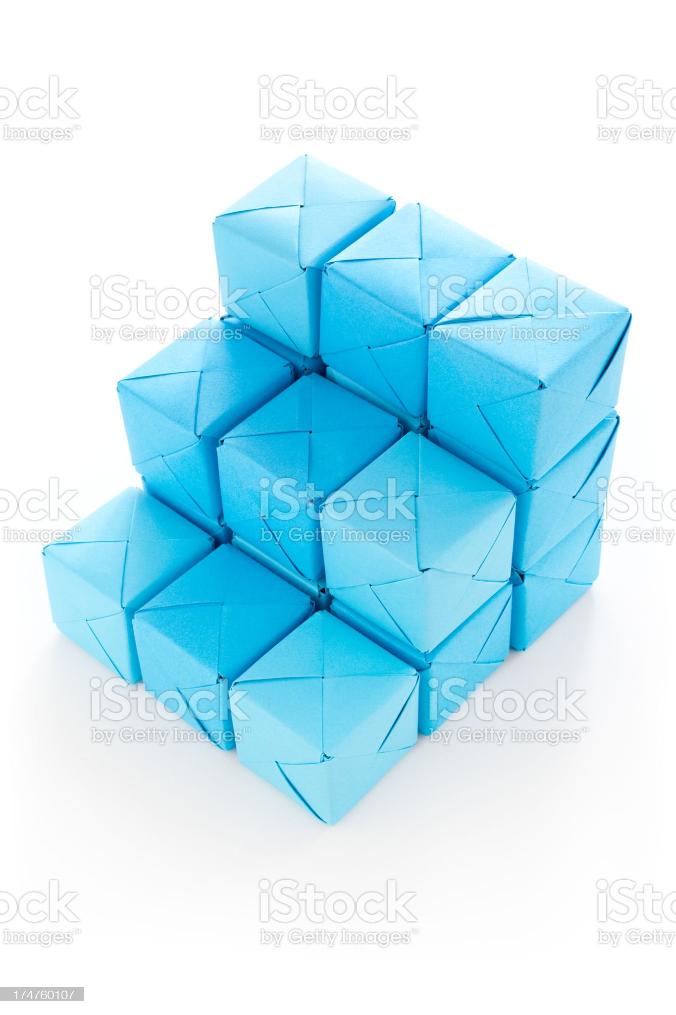 Cubes ladder royalty-free stock photo