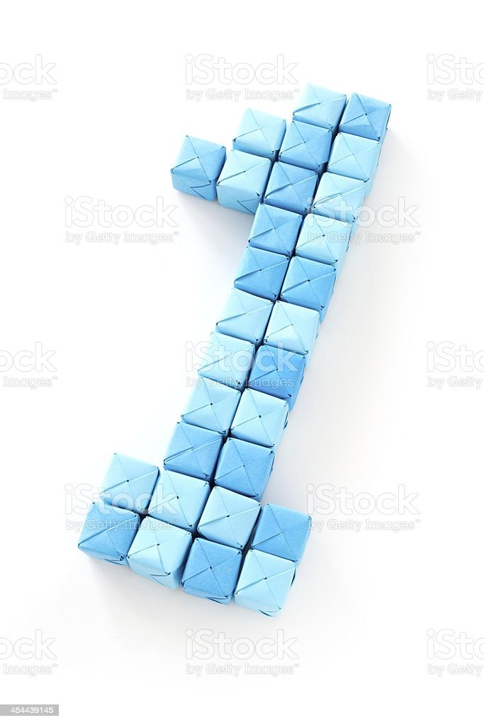 Cubes number one royalty-free stock photo