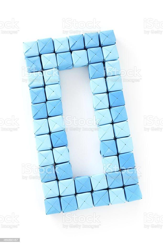 Cubes number zero royalty-free stock photo