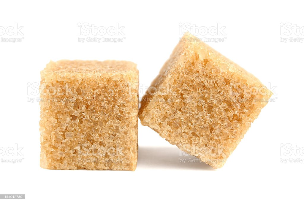 Cubes of cane sugar stock photo