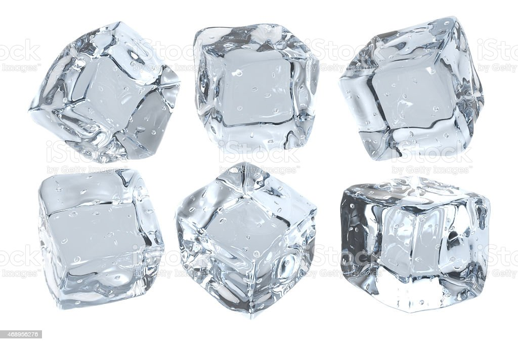 Cubes of ice stock photo