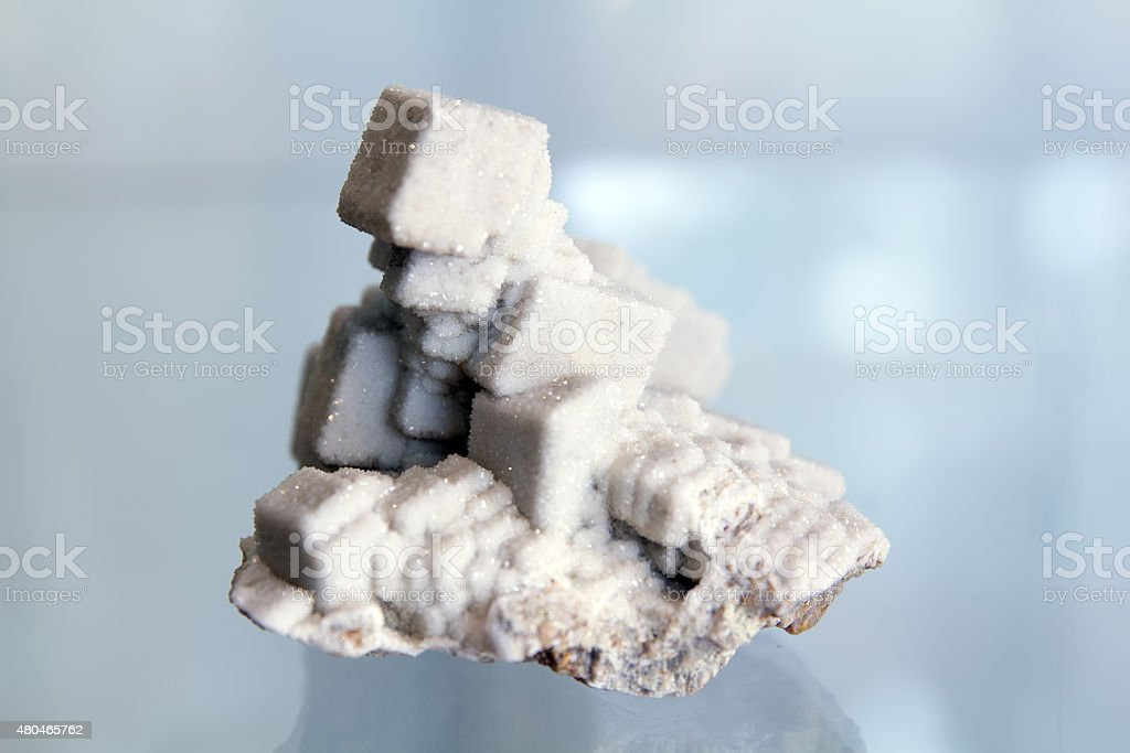 Cubes of quartz crystals stock photo