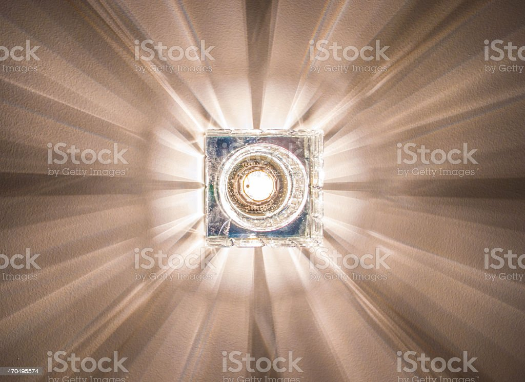 Cubes Transform light of leadership and individuality stock photo