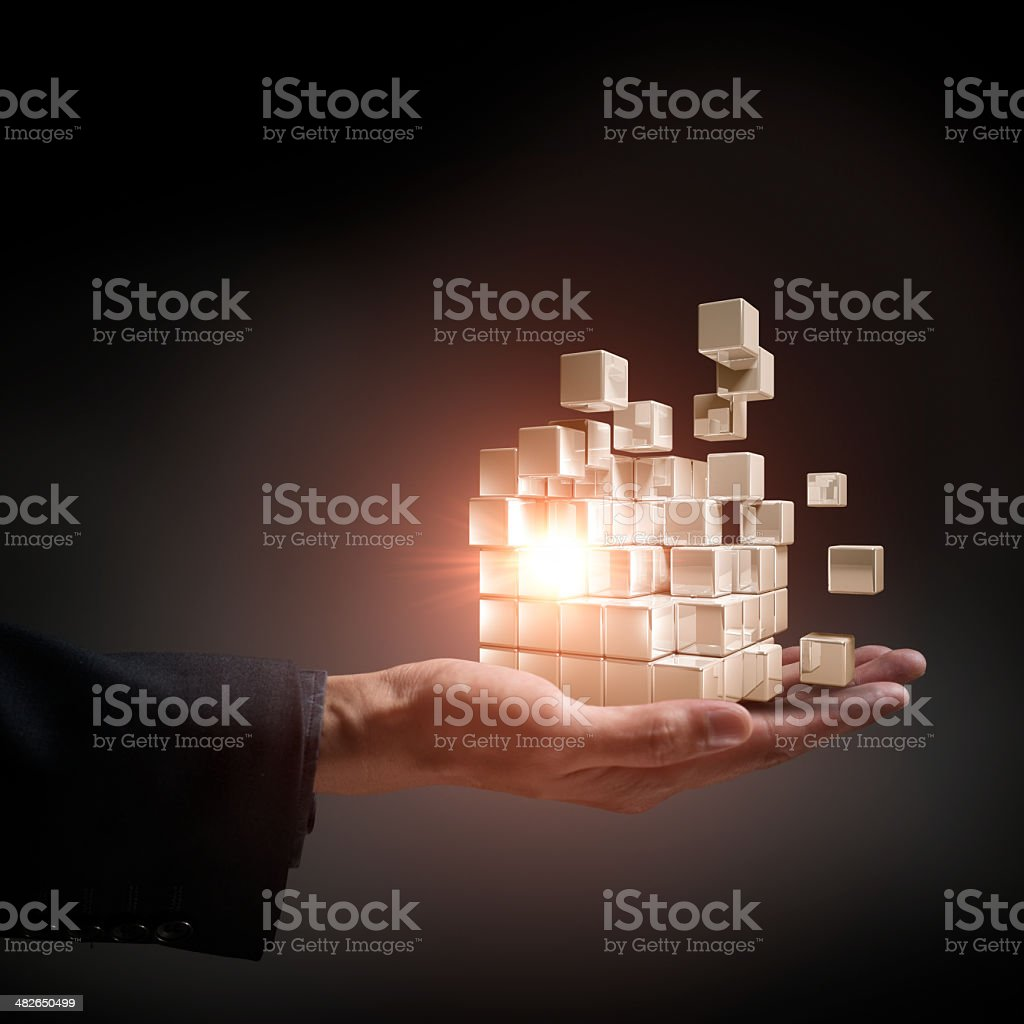 Cubes Transform stock photo