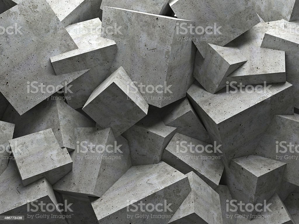 cubes wall stock photo