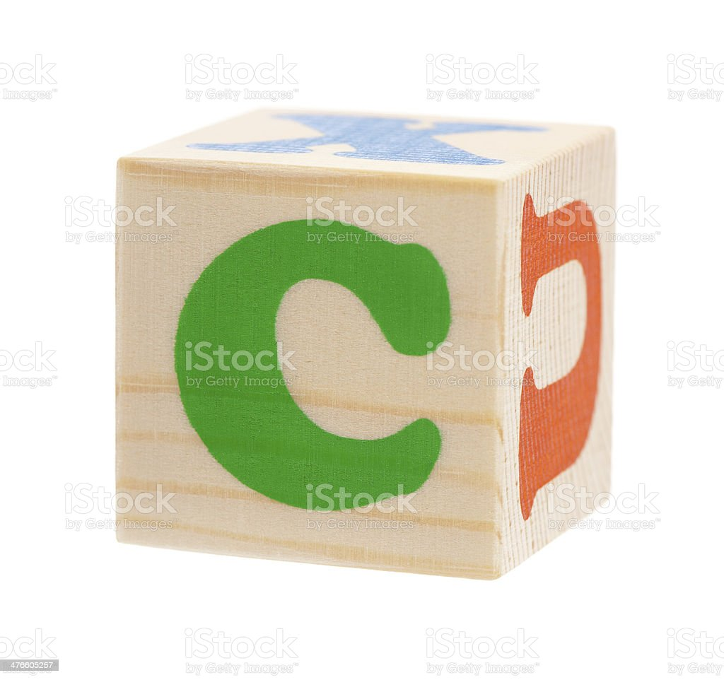 Cubes with letters royalty-free stock photo