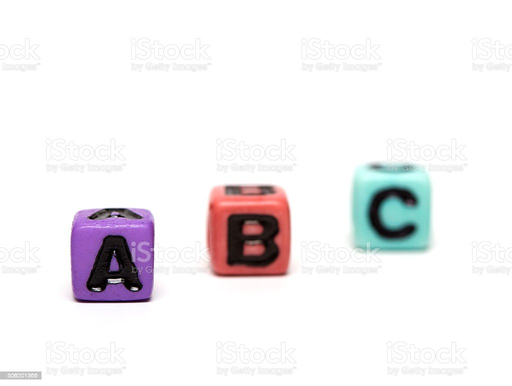 cubes with letters stock photo