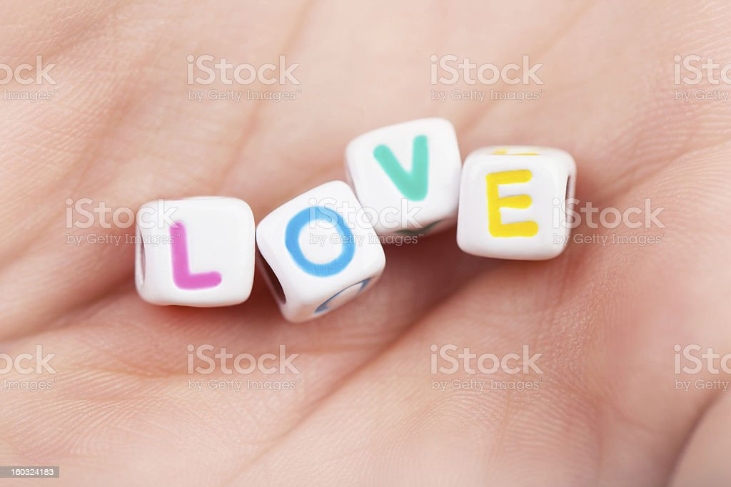 Cubes with love word royalty-free stock photo