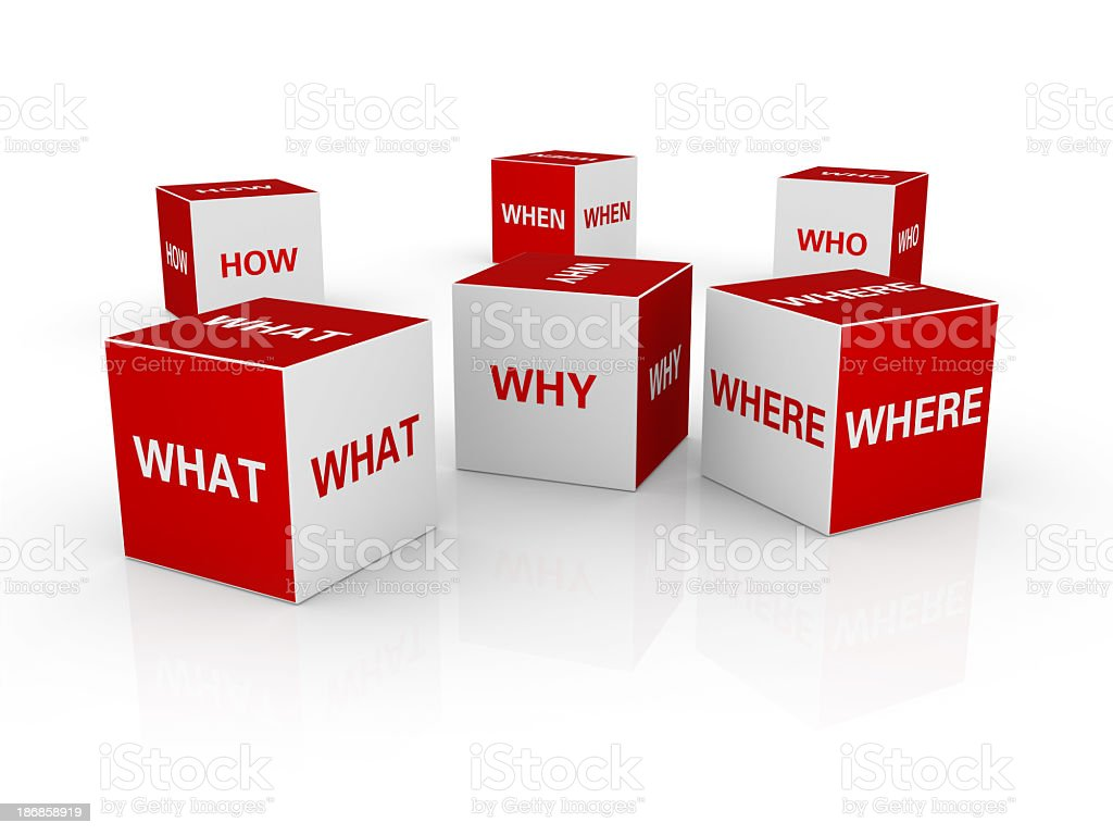 Cubes with Questions royalty-free stock photo
