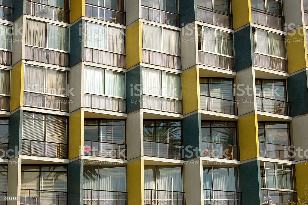 Cubic Balconies stock photo