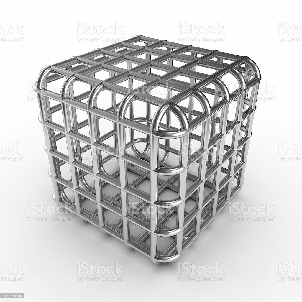 cubic cage stock photo