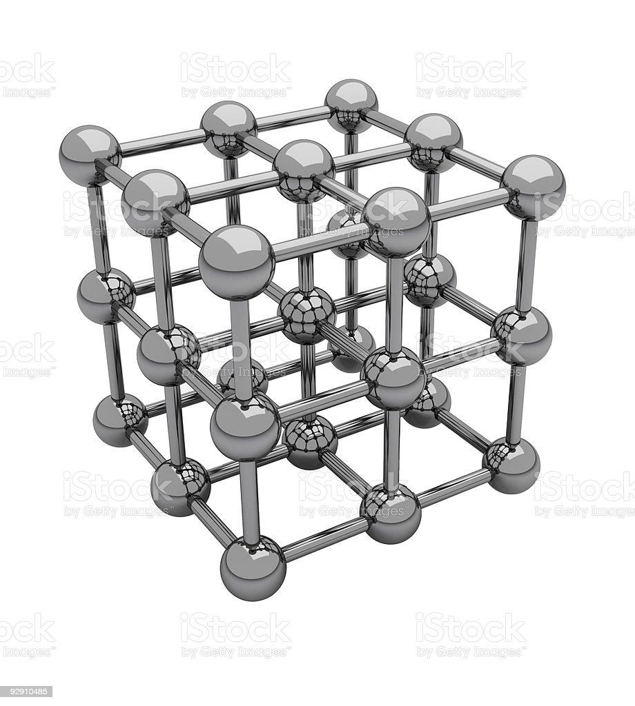 Cubic crystal lattice royalty-free stock photo