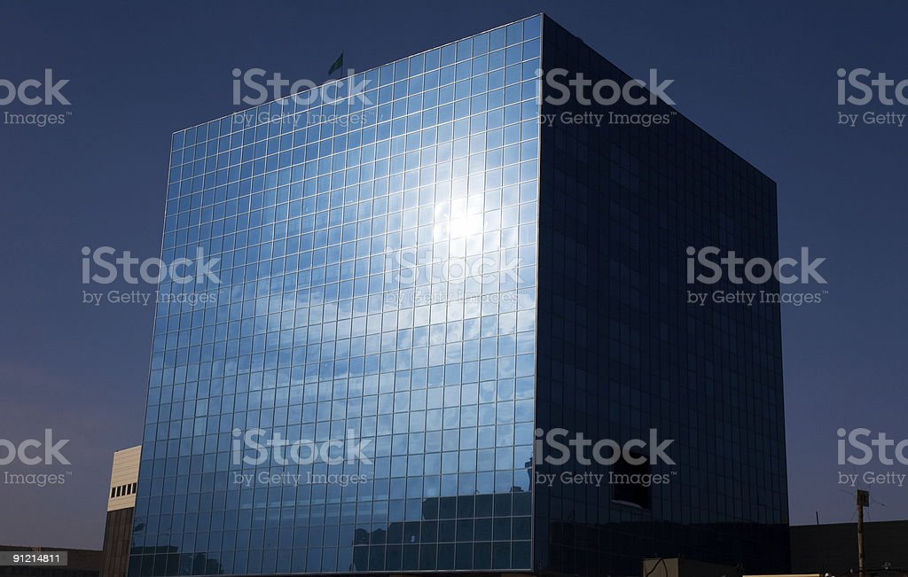 Cubic glass office royalty-free stock photo