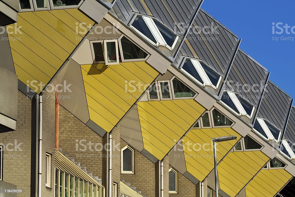 Cubic houses in Rotterdam royalty-free stock photo