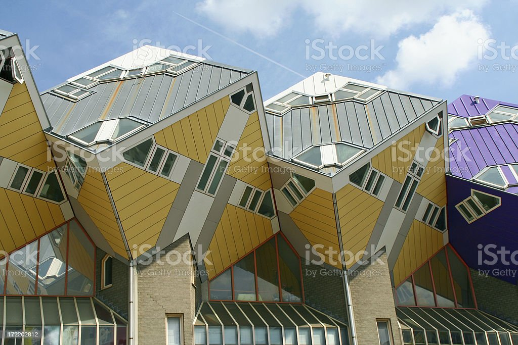 Cubic houses in Rotterdam # 1 royalty-free stock photo