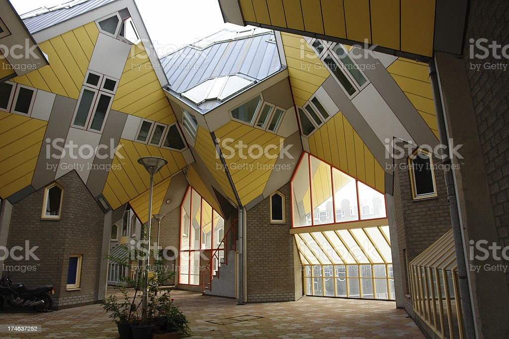 Cubic Houses in Rotterdam stock photo