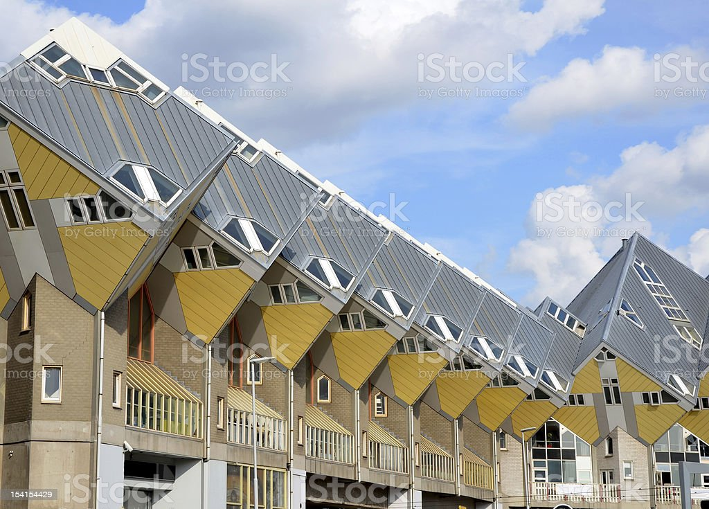 Cubic houses stock photo