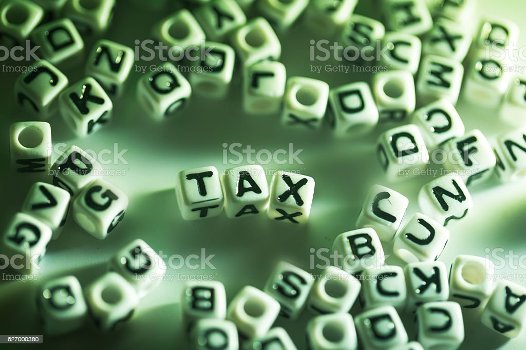 cubic letter random on surface stock photo