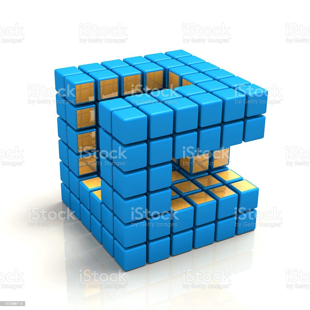 Cubic Network royalty-free stock photo