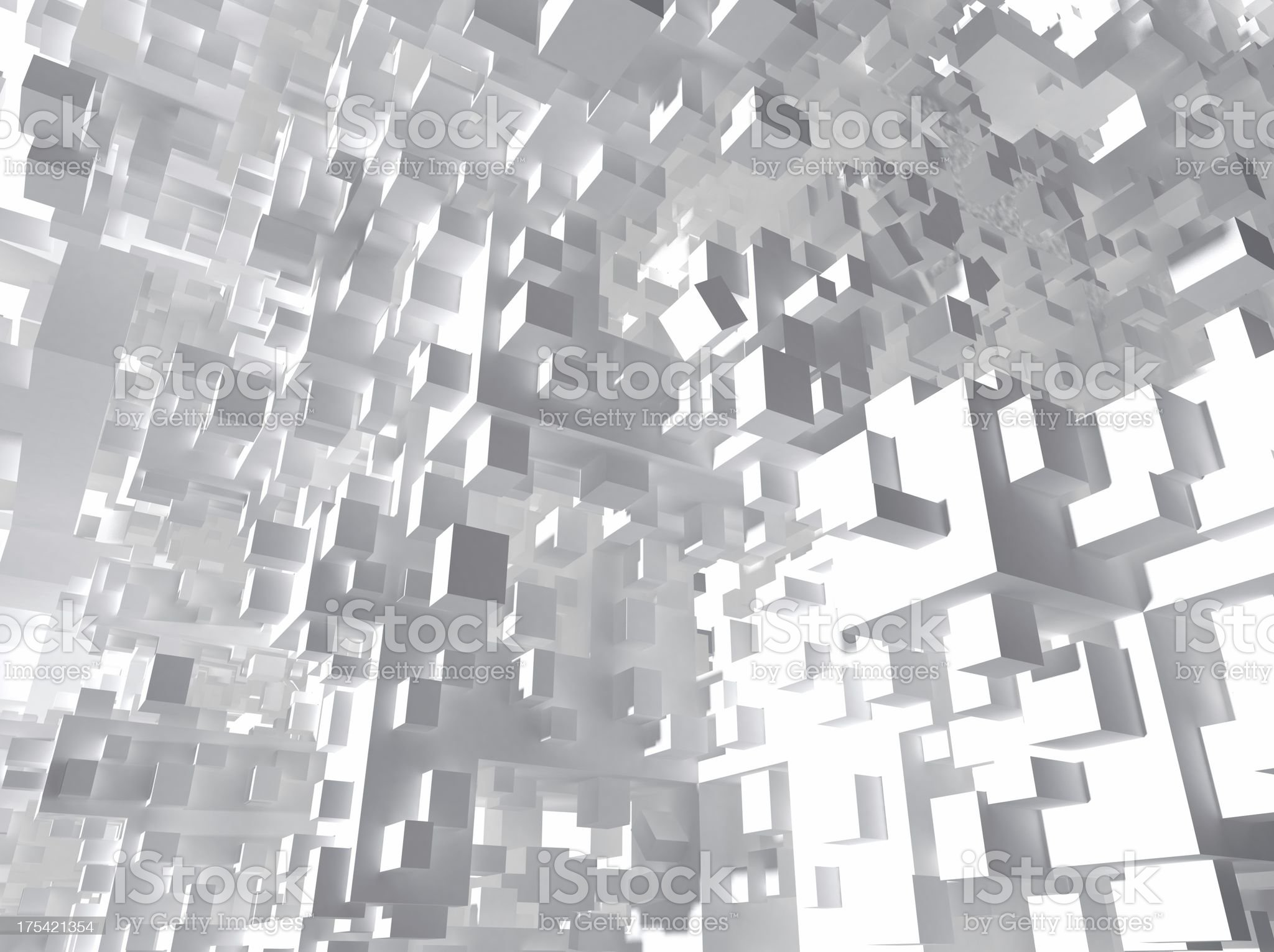 Cubic objects royalty-free stock photo