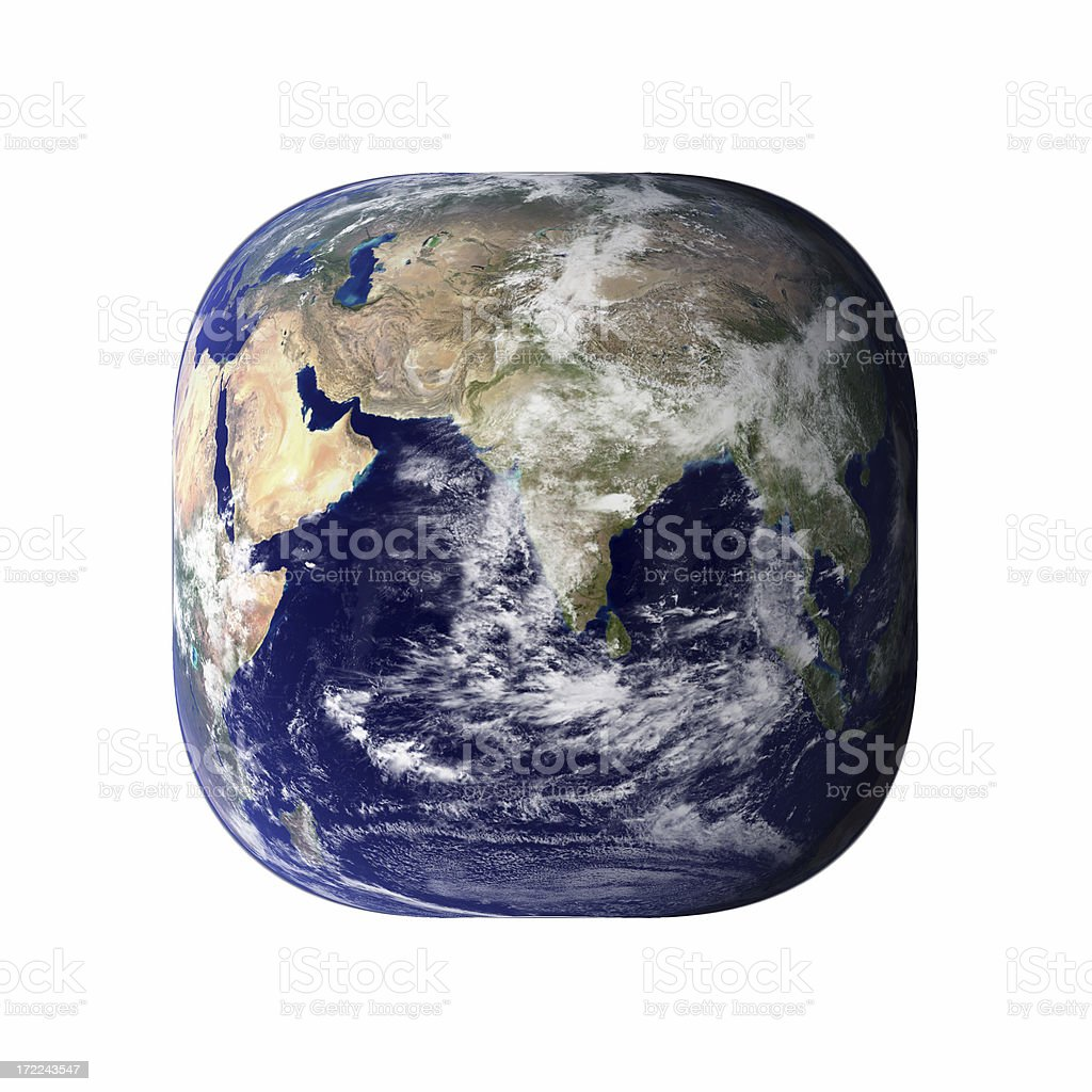 Cubic planet stock photo