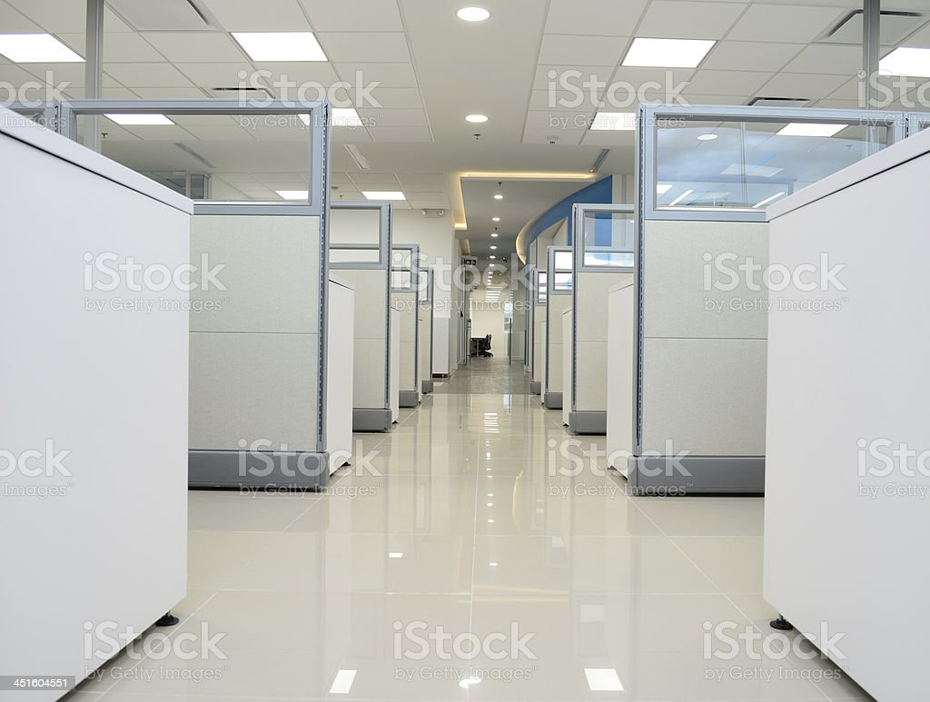 Cubicle hallway. stock photo