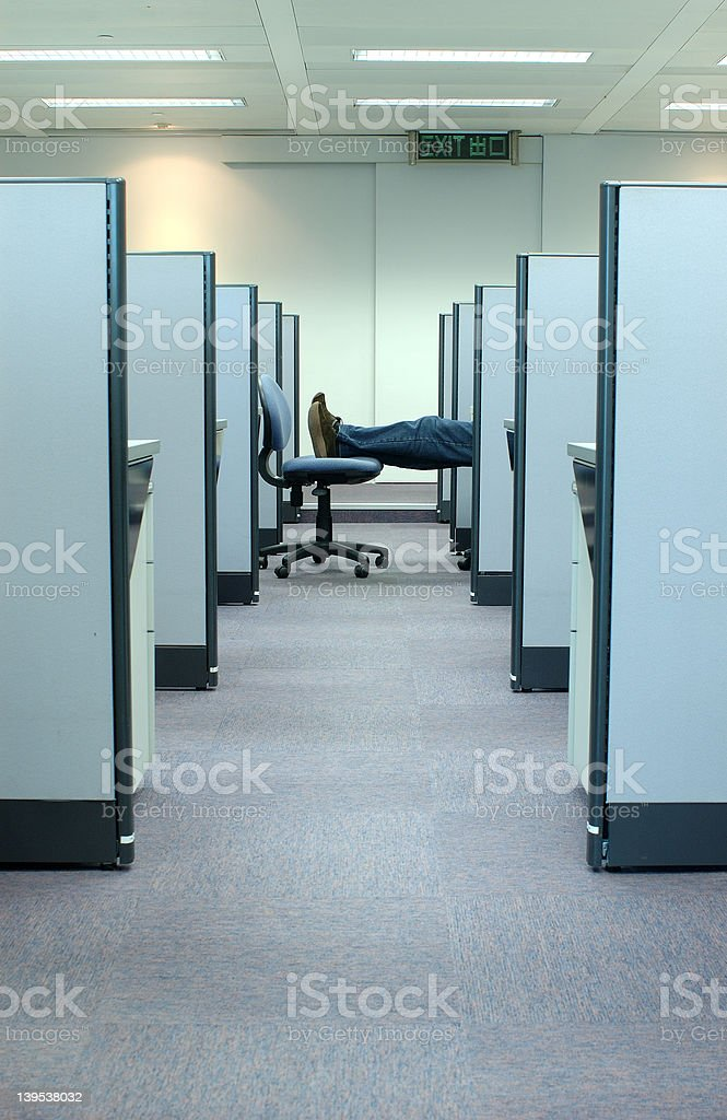 cubicle - office series 4 royalty-free stock photo
