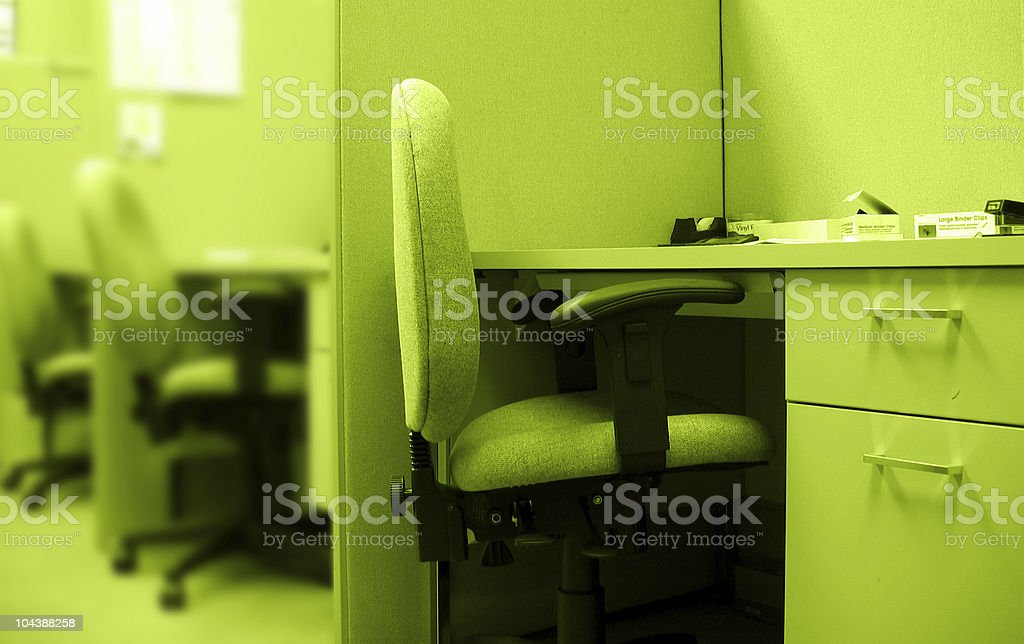 cubicles - lime flavored royalty-free stock photo