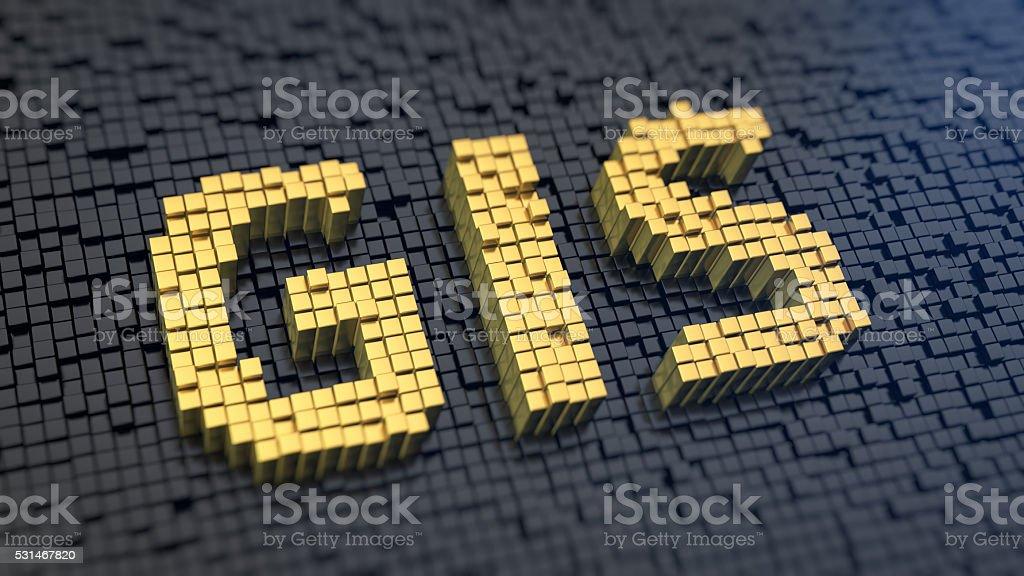 GIS cubics stock photo